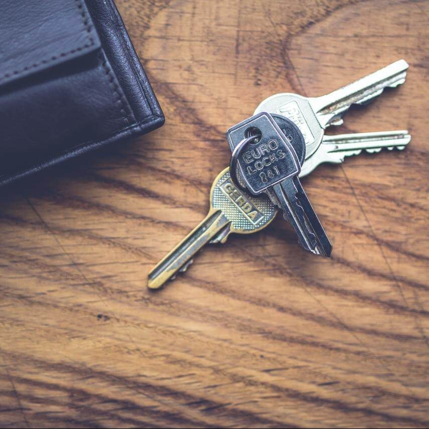 sleutels thuis